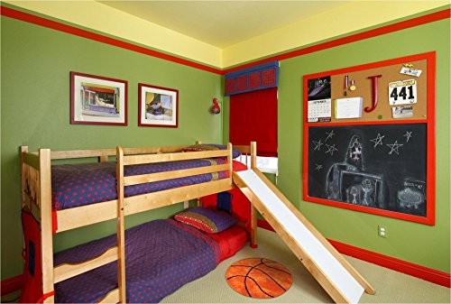 TCDBEST Area Rug Kids' Room Basketball Rug Non-Slip Backing Sports Themed for Bedroom, Kitchen, Hallway, Doorway (31.5inch)