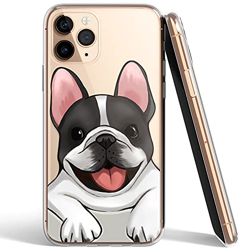 French Bulldog Phone Case Compatible with iPhone 11 Pro Max,Soft TPU Silicone Slim Transparent Protective Case for iPhone 11 Pro Max,Gift for Women Girls (Smile-3)