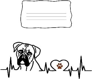 Composition Notebook: Boxer Dog Heartbeat EKG Heart Line