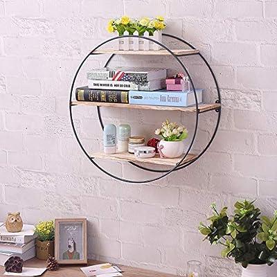 3-Layer Floating Shelf with Metal Brackets — W...
