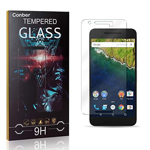 Conber [3 Stück] Displayschutzfolie kompatibel mit Huawei Nexus 6P, Panzerglas Schutzfolie für Huawei Nexus 6P [9H Härte][Hüllenfreundlich]