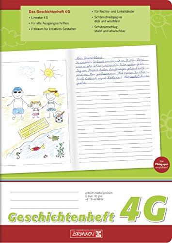 Brunnen 104499104 Geschichtenheft Klasse 4 (A4, 16 Blatt, Lineatur 4G)