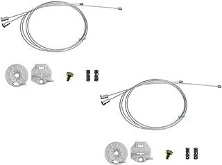 2 Kit Reparo Maquina Vidro Eletrico Corsa Traseiro Direito e Esquerdo