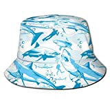 Bucket Hat Unisex Fashion Bucket Hat Packable Transpirable Summer Travel Beach Sun Hat -QH7