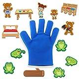 ampusanal Spielhandschuh,fingerpuppen Handschuh,babyspielzeug Mit Zubehör Storytelling Requisiten,Baby Geschenk Für Junge,mädchen,für Babys Und Kleinkinder Ab 0 Monaten Grand