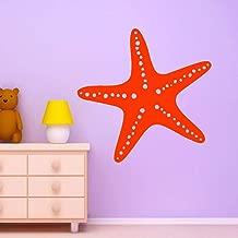 Pegatina de pared clásica de estrella de mar Pegatinas de pared extraíbles Papel pintado de bricolaje para habitaciones de niños Decoración del hogar de bricolaje Decoración de pared M30x30cm