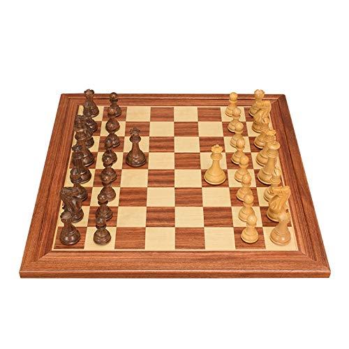 XWW Juego de ajedrez de Madera para Adultos y niños, Juego de ajedrez de Mesa, Juego de ajedrez de Aprendizaje y educación, Entretenimiento, Viaje, ajedrez