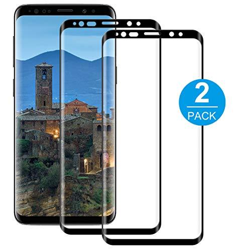 BOBI Vetro Temperato per Samsung Galaxy S8 Pellicola [2 Pezzi] Protettiva Copertura Completa, Durezza 9H, Protezione Schermo, Ultra Resistente, HD Anti Bolle, Anti-Impronta