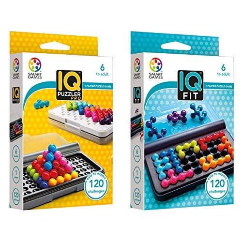 Smart Games SG455 IQ-Puzzler PRO, Geschicklichkeitsspiel, Reisespiel, Gehirntraining & Games SG 423 - Spiel Iq Fit