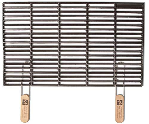Grillrostprofi Gusseisen-Grillrost 67 x 40 cm mit abnehmbaren Handgriffen