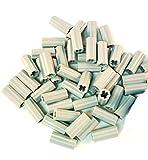 LEGO 40 Technic - Conector de eje (suaves con agujero y orientación), color gris claro