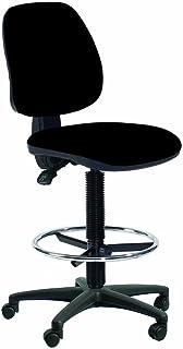 Topsit IND201 - Silla de escritorio alta (con reposapiés y respaldo acolchado)