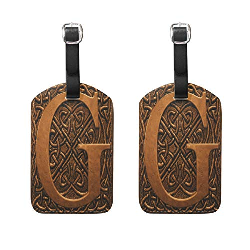 3D Letter G Luggage Tags Suitcase Luggage id Tags Labels Travel Accessories Set of 2