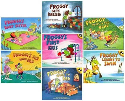 Froggy Mega Pack: Froggy Gets Dressed; Froggy Learns to Swim; Froggy's Baby Sister; Froggy Plays in the Band; Froggy's Day with Dad; Froggy's First Kiss; Froggy Goes to Bed (7 Titles)