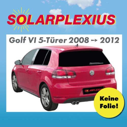 Solarplexius Sonnenschutz Autosonnenschutz Scheibentönung Sonnenschutzfolie 5 Türer Golf VI 6 Bj. 08-12