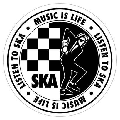 Ska Aufkleber Music is Life Listen To Ska