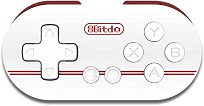 Gam3Gear Palm Pocket Size 8Bitdo Zero Wireless Gamepad Controller Shutter for Android iOS Windows Mac White Red with Gam3Gear Keychain