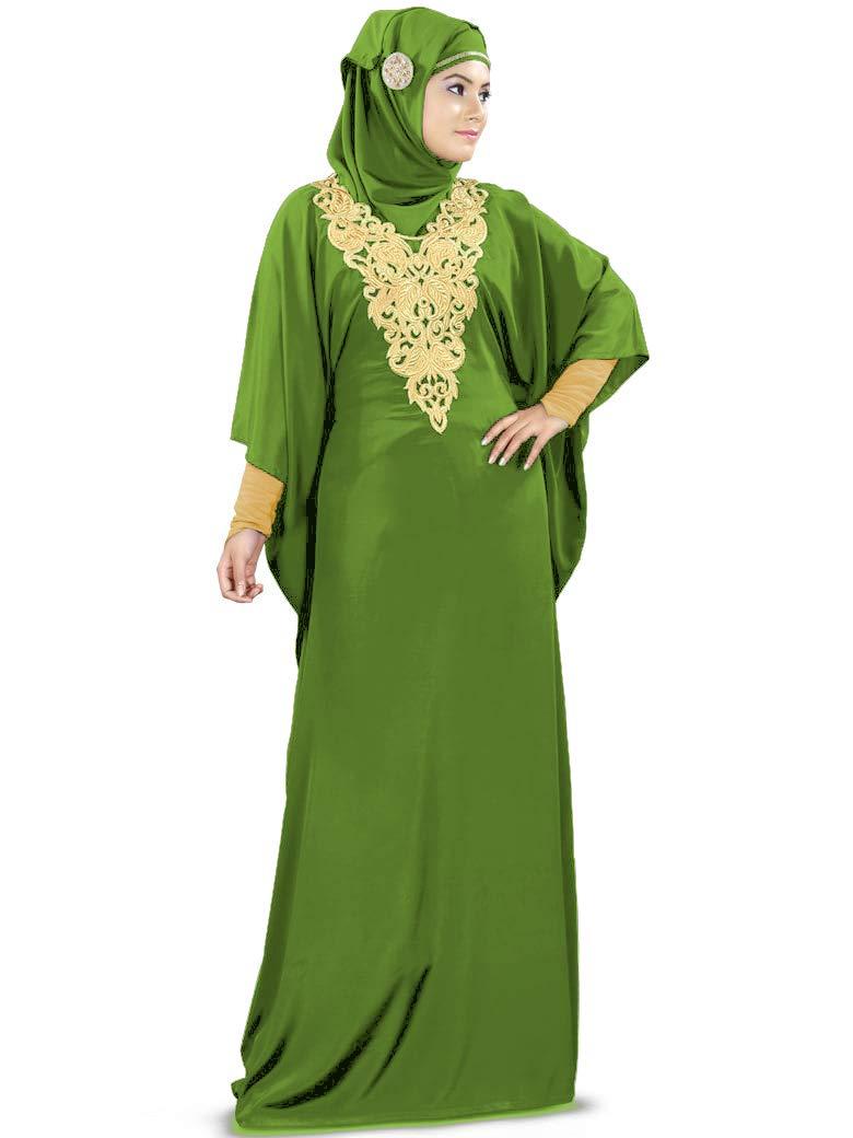 Available at Amazon: MyBatua Women's Kaftan Gold Embroidered Fancy Abaya Evening Gown Muslim Maxi Dress KF-003