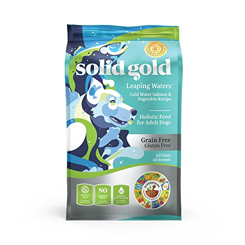 Solid Gold Leaping Waters with Cold Water Salmon Grain-Free Dog Food for Sensitive Stomach - Holistic Adult Dog Food