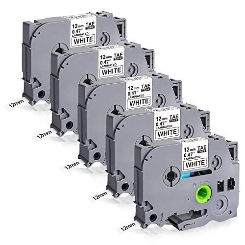 TZe-231 White Tape Compatible for Brother TZe-231 TZe231 TZ Tape 12 mm 0.47 laminato per Brother P-Touch H105 H110 H107B 1010 1000 D400 D600 E100 Cube Plus