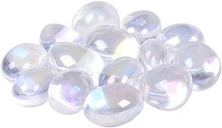 100 Grams Aqua Aura Clear Quartz Tumbled Polished Natural Crystal Healing Pocket Stones Rock Collection