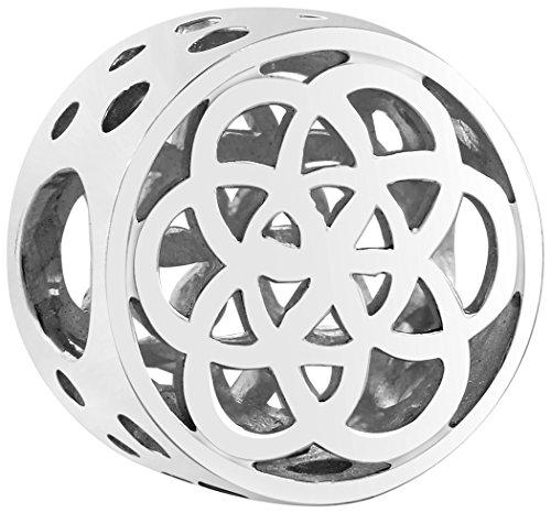 Nenalina Bead Anhänger Blume des Lebens 925er Sterling Silber | Charm Bead kompatibel für alle gängigen Träger Armbänder und Ketten | 719192-000