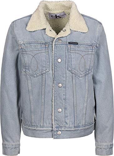 Calvin Klein Jeans Omega Sherpa Trucker W Jeansjacke iconic everest blue