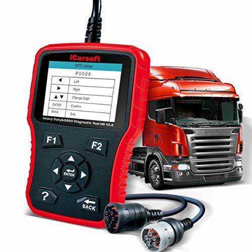 iCarsoft HD V3.0 Heavy Duty Diesel Truck Diagnostic Scanner Tool Code Reader Freightliner Cummins