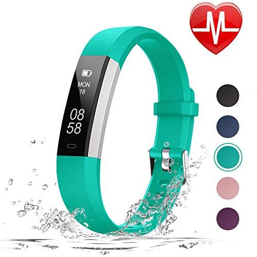 LETSCOM Fitness Armband Pulsmesser Schrittzähler Pulsuhr IP67 wasserdicht Schlafüberwachung Fitness Tracker für Damen Herren und Kinder MEHRWEG