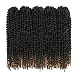 18 Inch 3D Passion twist hair Curly Crochet hair Braids Ombre Brown Senegalese Spring Twist Crochet Braids Synthetic Hair Extensions(5Packs,T1B/30#)
