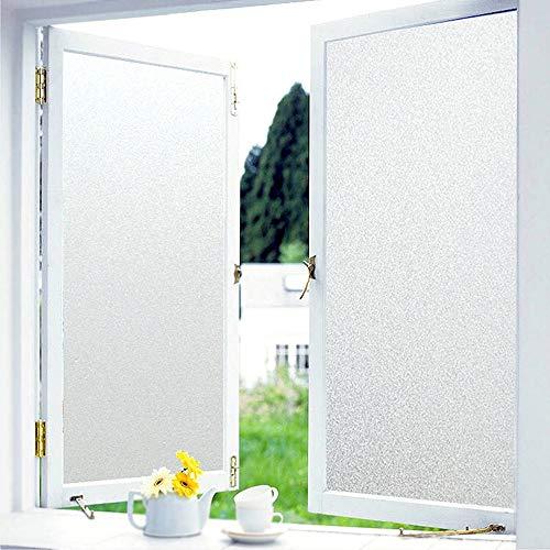 Window Films - X melkglasfolie ondoorzichtig zonder lijm, privacy privacy film anti-UV, raamfolie statisch zonwering hittebescherming, zelfklevende raamfolie decoratiefolie voor kantoor bedrijven