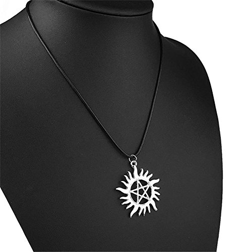 RONGXINUK Popular Supernatural Pentagram Pendant Necklace Dean Anti-Possession Symbol by RONGXINUK