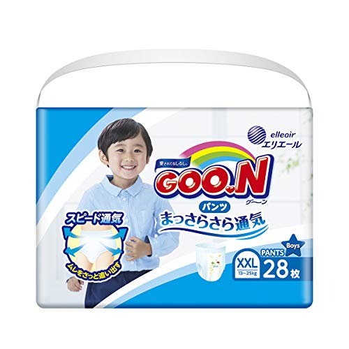 GOO.N Baby Windelhöschen für Jungen BIG Gr. XXL (13-25 kg) 28 Stück Premium Qualität Made in Japan
