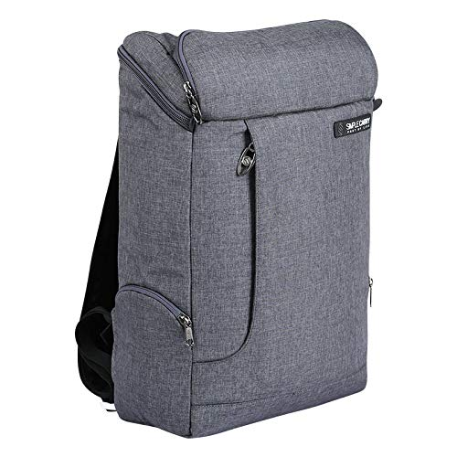 SIMPLECARRY Slim Backpack with Shockproof Laptop Compartment – Large, Water Resistant, Carryon Travel Backpacks for Men, Women, School and College (Dark Grey)
