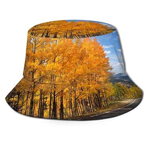 NA Baumwoll-Sonnenhüte für Angeln, Jagd, Reisen, Köper, Eimer für Herbst, Straße, Bäume, Natur