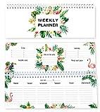 Agenda settimanale con fenicotteri senza data / calendario da tavolo / weekly planner / agenda senza data / agenda perpetua / in lingua inglese