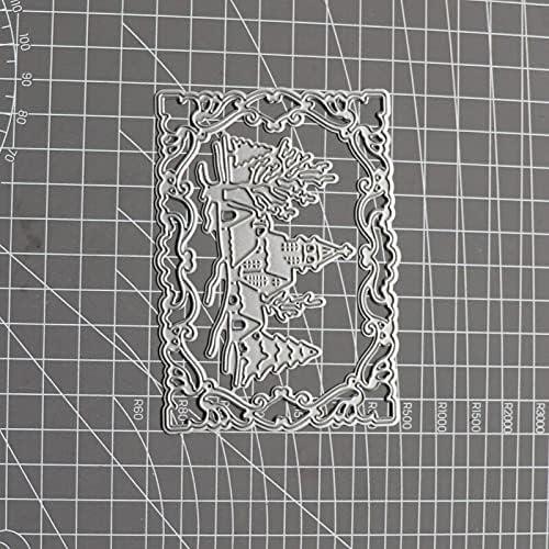 ZILMAKO Metal Cutting Overseas New life parallel import regular item Dies Castle Lace Frame Tree Backgrou House