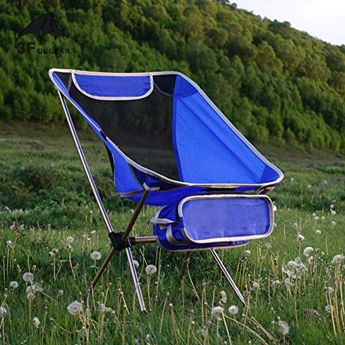 HUALI Silla Que acampa Plegable compacta for IR de excursión de Pesca de Picnic, Silla Plegable portátil Beach, Ultraligero Silla Plegable Azul al Aire Libre LIULI