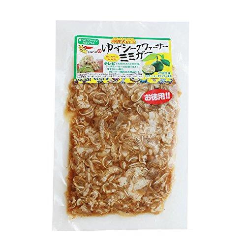 ゆずシークヮーサーミミガー 250g×10P 常温 ドルバコ 食べるコラーゲン カルシウム シークヮーサーの甘酸っぱさとゆずのいい香り コリッとした食感が美味しいミミガー(豚の耳皮の千切り)お徳用 !