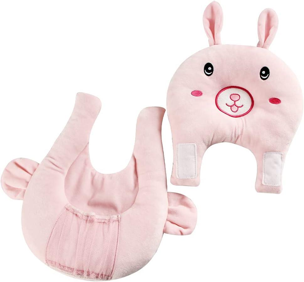 KAKIBLIN Portable Breastfeeding Pillow, Detachable Self-Feeding Lounger Baby Feeding Support Pillow Nursing Pillow Baby Pillow for Breast Suitable for 0-12 Months Newborn,Rabbit