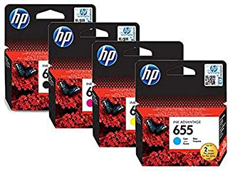Hp 655 Ink Cartridges Set - Black, Cyan, Magenta & Yellow
