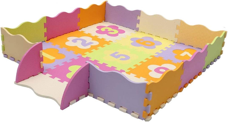 70% de descuento Baby Foam Foam Foam Jugar Mat With Fence - Alfombra de rastreo con interbloqueo de alfabeto, for Niños pequeños Alfombras de gimnasio Alfombra de rastreo for jugar Centro de actividades Sala de juegos  encuentra tu favorito aquí