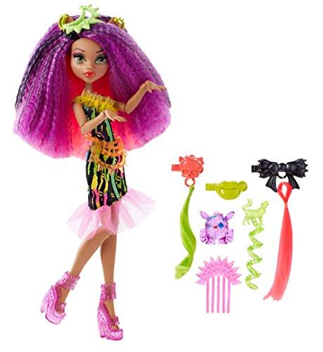 Monster High Monster High-DVH70 Barbie Muñeca clawdeen, Electro-Peinados, Multicolor (Mattel DVH70)