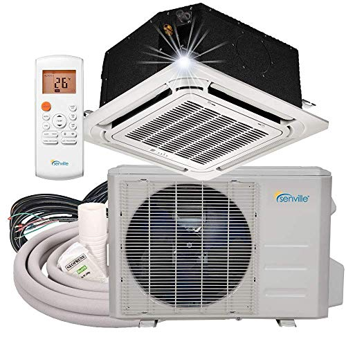Senville SENA-24IC-Z 24000 BTU Ductless Ceiling Air Conditioner and Heat Pump