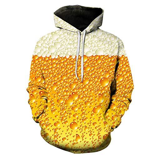 Z&Y Glass Felpe con Cappuccio Uomo 3D Stampato Hoodie Unisex Pullover Sweatshirt con Tasche Coulisse Felpe Uomo Unisex Felpa 3D Stampa Felpe con Cappuccio Pullover Hoodie Manica Lunga Sweatshirt