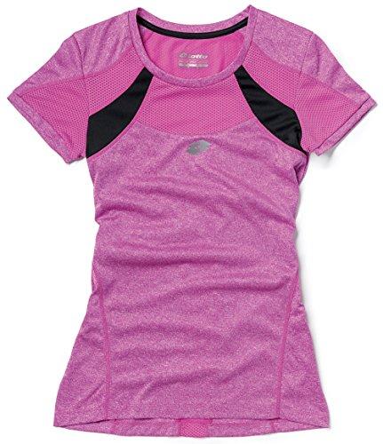Lotto T-Shirt Moon Ride, Femme, Melange Purple Jam/Black XL Melange Purple Jam/Black