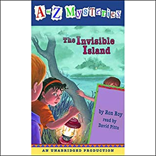 A to Z Mysteries: The Invisible Island audiobook cover art