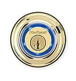 Kwikset Kevo 99250-201 Kevo 2nd Gen Bluetooth Touch-to-Open Smart Electronic Door Lock Deadbolt Featuring SmartKey Security, Polished Brass