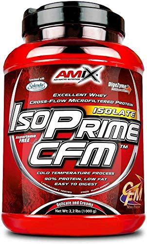 AMIX- Proteína Isolada, Isoprime CFM, Aislado de Proteína de Suero, Sabor Vainilla, Ayuda a la Recuperación Muscular, Proteína de Suero de Alta Pureza, 1 Kg