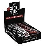 Grillido Sportwurst Original 25er Pack| Die Power Salami mit wenig Fett| Der Ideale herzhafte Snack für Unterwegs